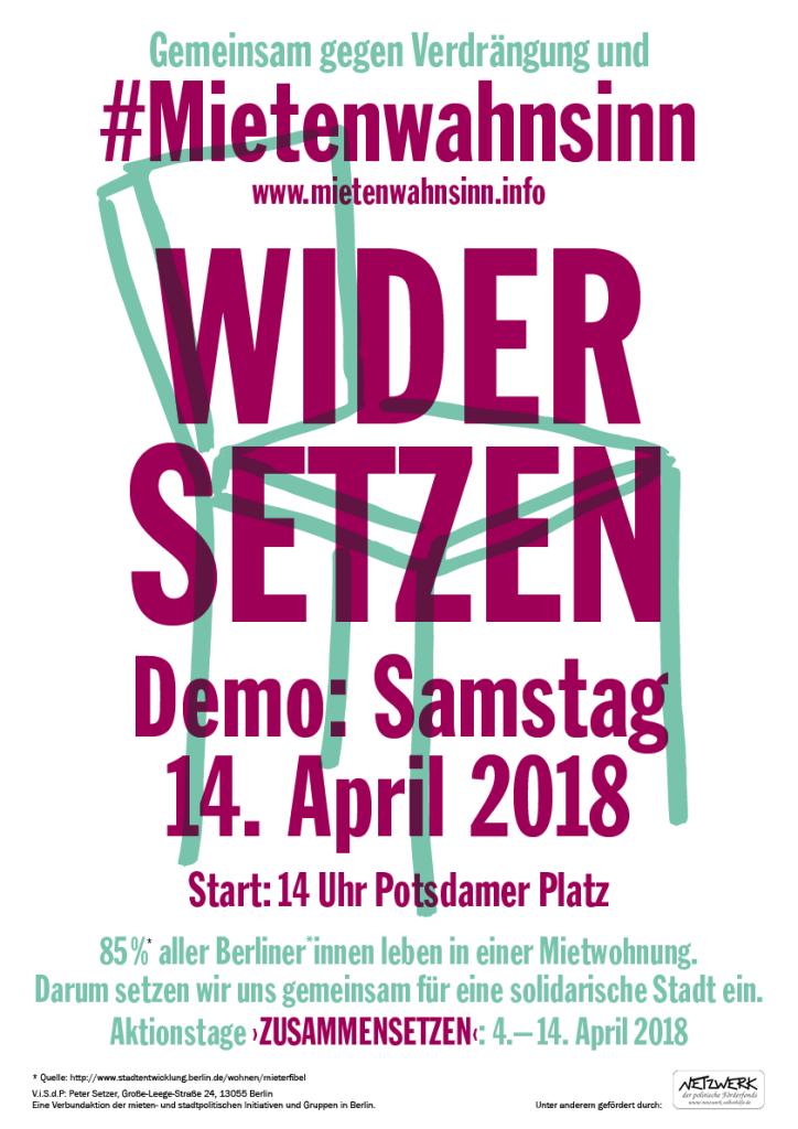 Mietenwahnsinn-2018_Demonstration-Plakat